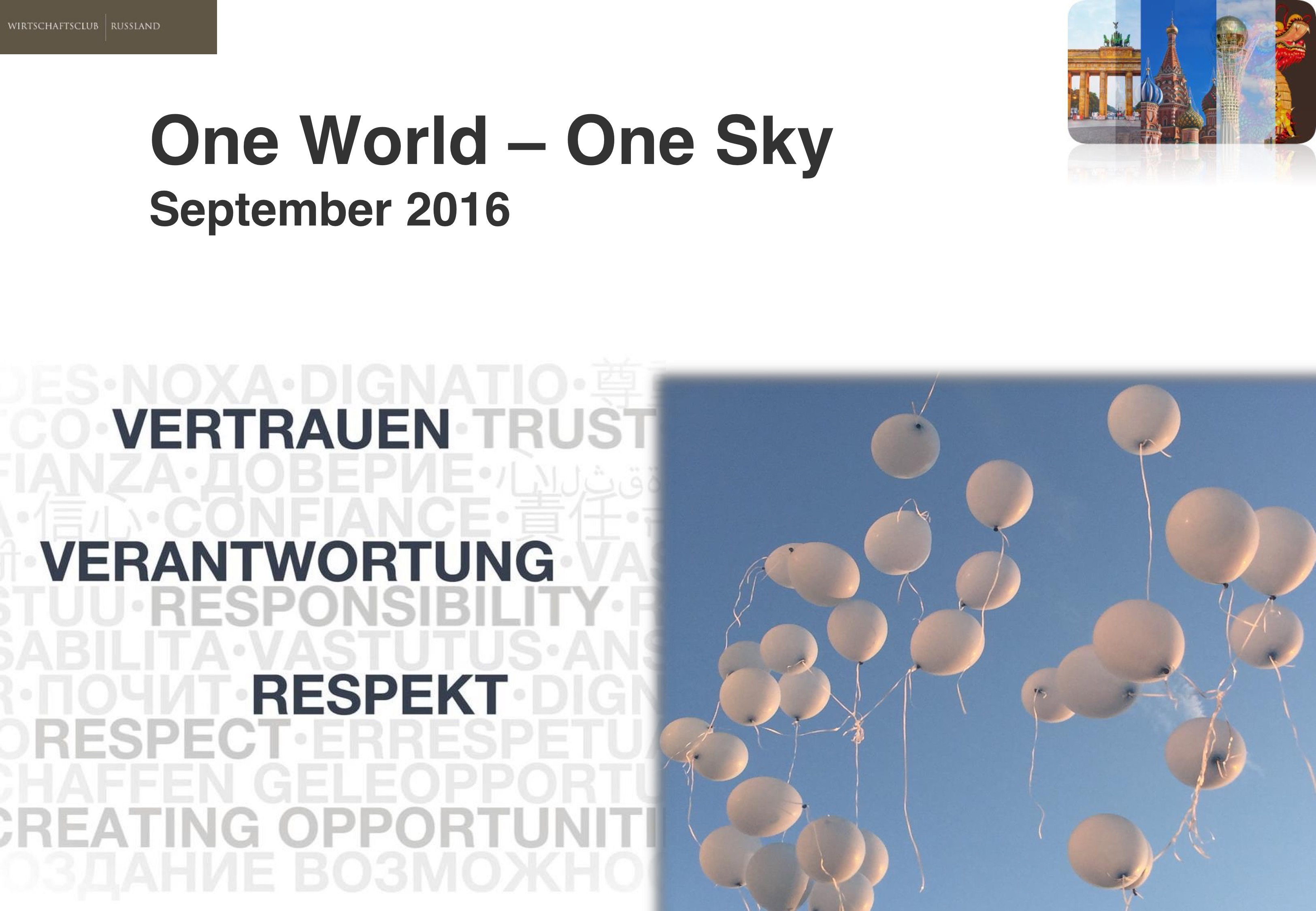 One World - One Sky