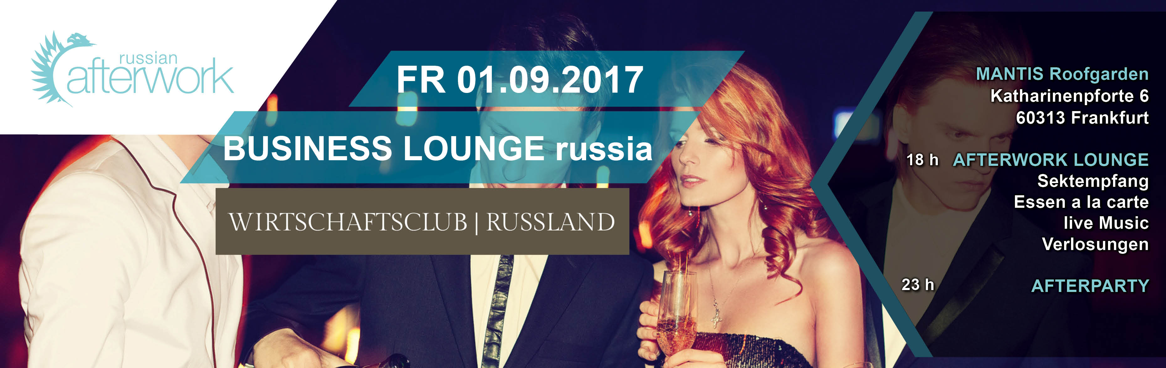 Frankfurt 192017 Business Lounge Russian Afterwork